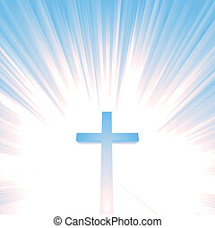 Heaven Christian Cross - Ilustration of a christian cross...