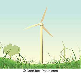Spring And Summer Windmills Poster