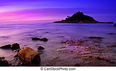 Funky St Michaels Mount - St Michaels Mount at sunset