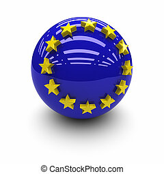 European Union Flag. - 3D  -European Union Flag.