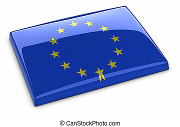 European Union Flag. Clipping path included.