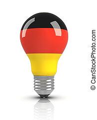 Light bulb with German Flag