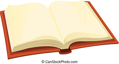 Open Book - Illustration of a cartoon opened book icon