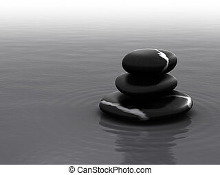 Balanced Stone Pile - Pebbles in Water