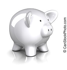 Piggy Bank . Clipping path included.