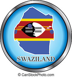 Swaziland Round Button - Vector Illustration for the country...