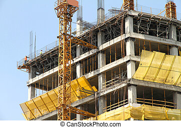 Construction site of a Skyscraper in Santiago de Chile - A...