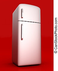 Fridge - A classic Fridge 3D rendered Illustration
