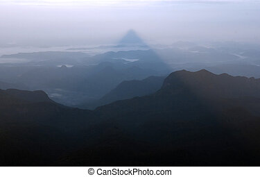 Shadow of the mountain, Sri pada - Shadow of the mountain...