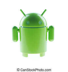 Android - Isolate green toy like android operative system
