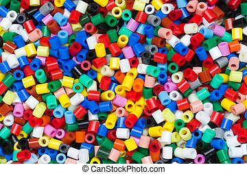 plastic granules - colorful plastic granules or beads as a...