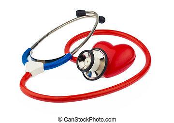estetoscopio, corazón