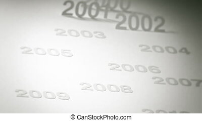 Timeline Concept: 2000s, 2010s - Two clips of a simple,...