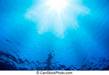 Under Water Light Rays - Under Water