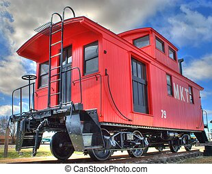 MKT caboose - red caboose
