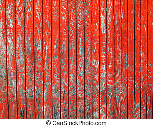Peeling Red Paint Background - A rustic old shack with...