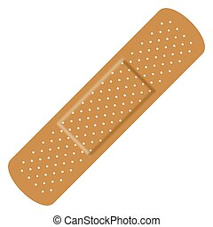 Band Aid Bandage - Illustration of an isolated band aid...