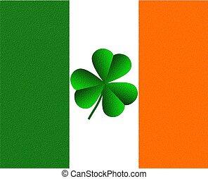 Ireland Irish Flag and Shamrock - Illustration of a shamrock...