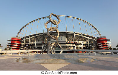 Khalifa International Stadium in Doha, Qatar Photo taken at...