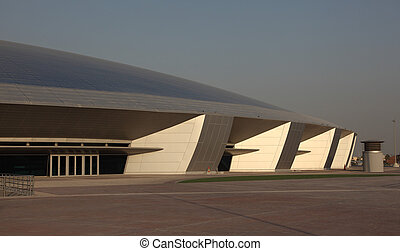 The Aspire Dome and Academy for Sports in Doha, Qatar. Photo taken at 7th of January 2012