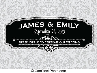 Vector Ornate Striped Frame
