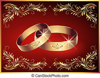 Wedding rings - Card with wedding rings