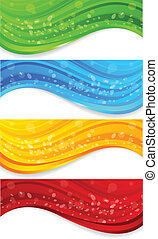 Set of abstract banners with circle