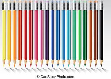 vector colorful pencils