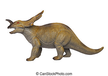 Dinosaur Styracosaurus on the white background