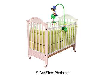 crib isolated on white background