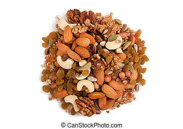 Mixed dry fruits - Pile of mix collection of dry fruits...