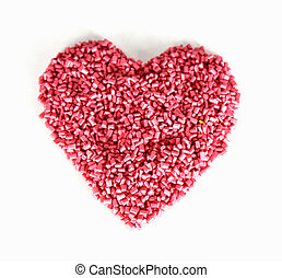 Red Love - Heart shapes for Valentines Day and for lovers...