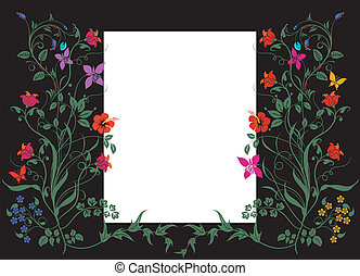 Floral pattern with white label
