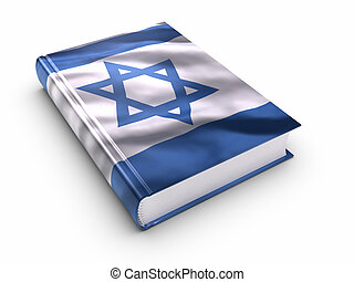 Book covered with israeli flag