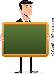 Back To School - Illustration of cartoon man holding a...