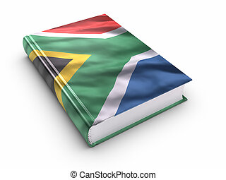 Book covered with South african flag