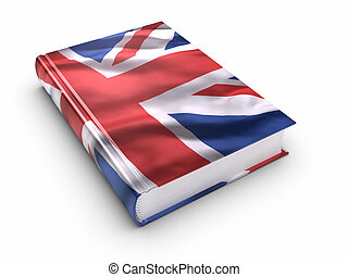 Book covered with British flag