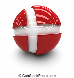 Flag of Denmark - 3D  - Flag of Denmark