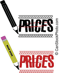 price markdown - clip art for retail and wholesale for price...