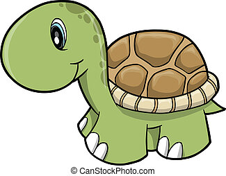 Cute Safari turtle Vector