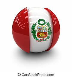 Flag of Peru - 3d Flag of Peru.