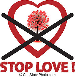 stop love sign