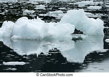 Ice in Alaska - Ice on the sea, Alaska