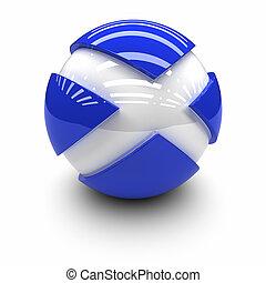 Flag of Scotland - 3D  - Flag of Scotland