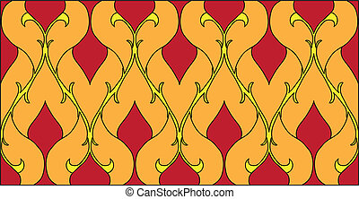 Thai pattern graphic