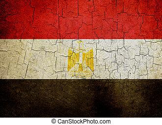 Grunge Egypt flag