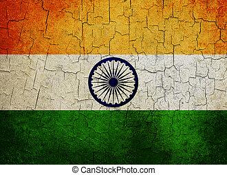 Grunge India flag