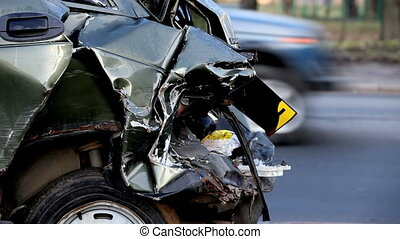 car accident   - consequences of road accident