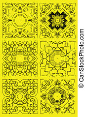Thai pattern graphic vector , EPS10 version