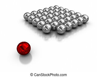 Standig Outside the Group - magnetic balls.